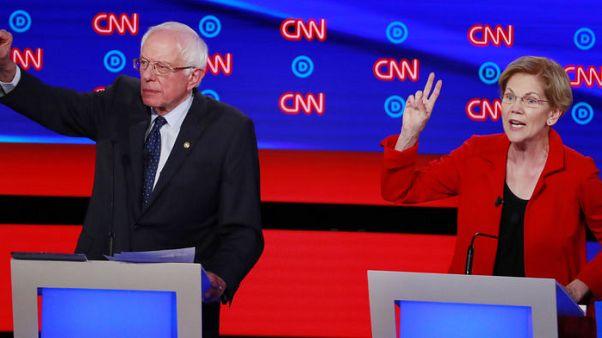 As 2020 race heats up, growing worries Warren and Sanders will split leftist vote