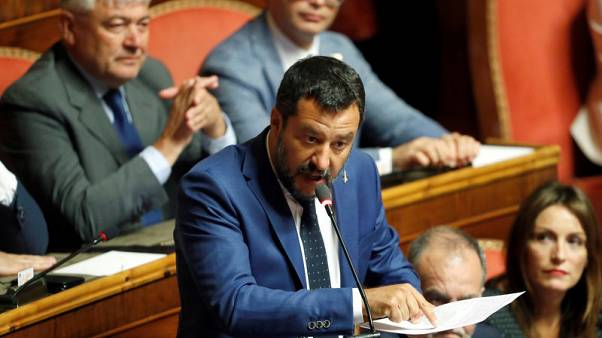 Italy's Salvini accepts cutting lawmakers, if followed by instant vote