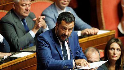 Italy Senate slows down government crisis, frustrating Salvini