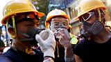 In Hong Kong, a protest boom for some businesses starts waning