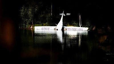 Norway's first electric plane crash-lands on lake