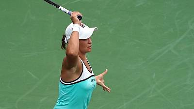 Barty outguns Sharapova, Halep survives scare in Cincinnati