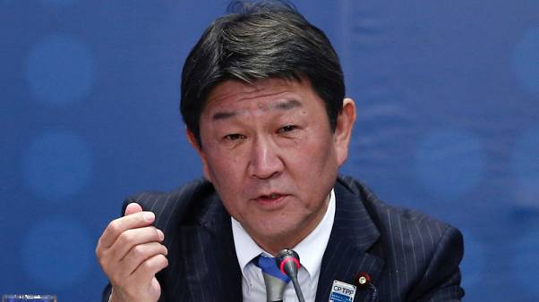 Motegi says aiming for U.S.-Japan trade talks August 21-22 - Jiji