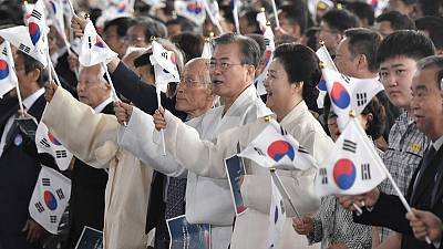 South Korea urges dialogue with Japan on WW2 anniversary