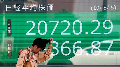 نيكي الياباني عند أدنى مستوى في 9 أيام مع هيمنة مخاوف الركود على الأسواق