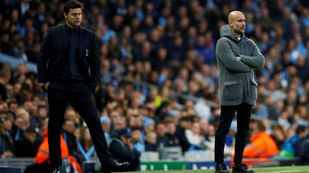 Guardiola sees 'second best' Tottenham as title contenders