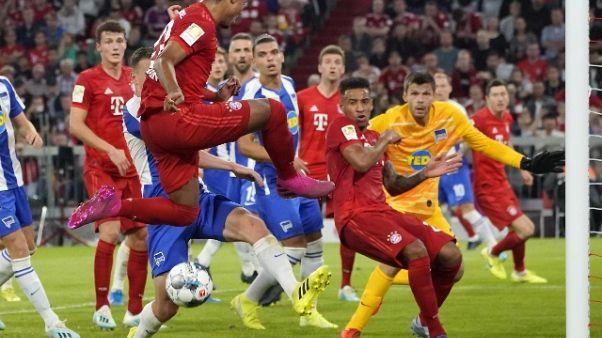 Partenza zoppa Bayern,Hertha strappa 2-2