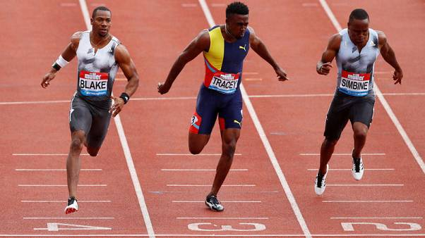 Blake blasts back with 100m Diamond League win, eyes world champs