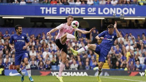 Chelsea-Leicester 1-1, solo pari Lampard