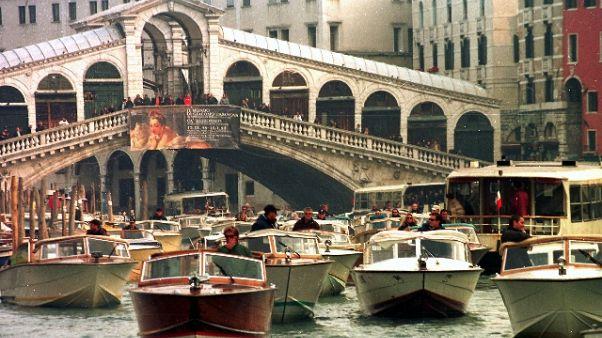 Venezia prova il 'nuovo' traffico acqueo