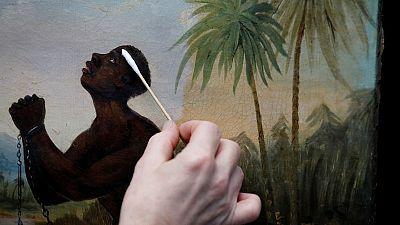 حماة الفن في بريطانيا يرممون لوحة نادرة عن العبودية