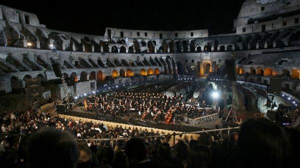 Euro 2020:concerto inaugurale a Colosseo