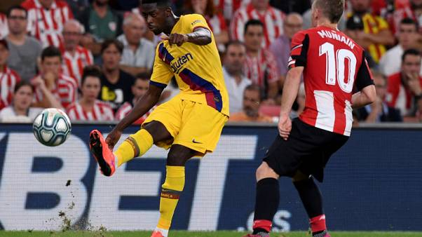 Barca's Dembele out for five weeks with hamstring strain