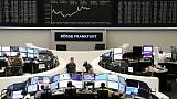 European shares rise for third straight session