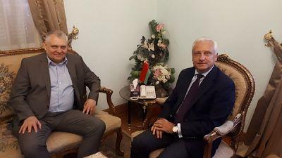 Ambassador of Belarus Sergei Rachkov met with Director General of «Amkodor» holding