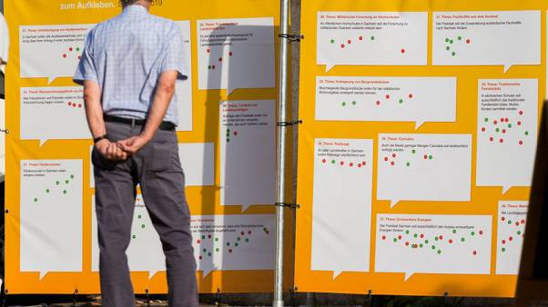 Far-right party surge in eastern German regions threatens Merkel's coalition
