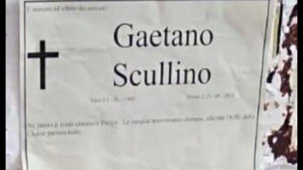 Manifesto funebre a sindaco Ventimiglia