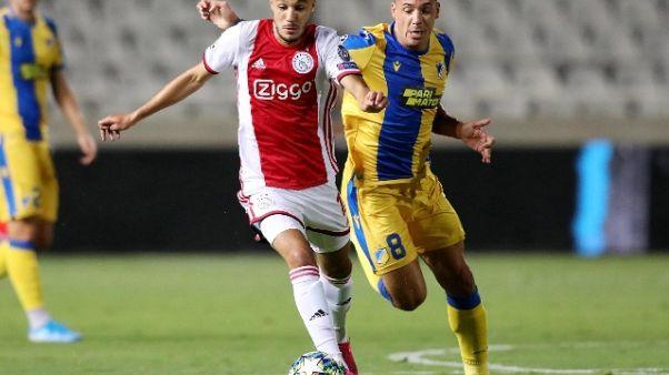 Champions: Ajax pareggia 0-0 a Cipro