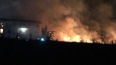Incendio minaccia rovine antica Vibo