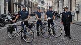 Padova,in centro servizio vigili in bici