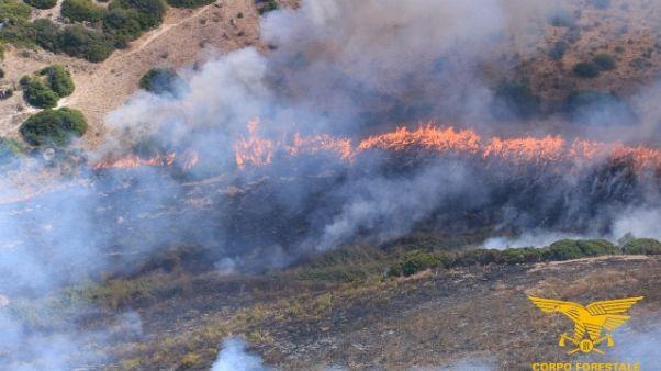 Prorogata allerta incendi in Sardegna