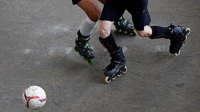 Nine teams vie for football on roller skates World Cup in Belgium