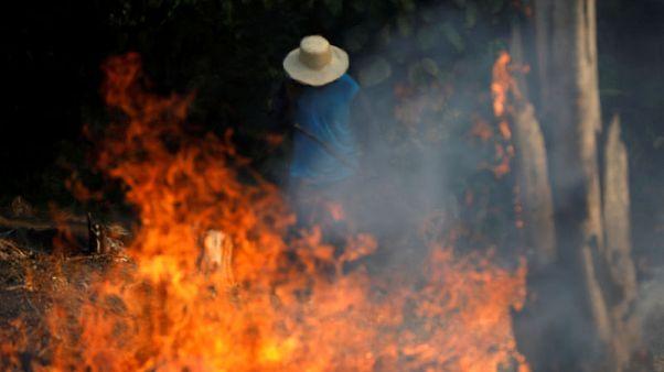 Brazil's Bolsonaro accuses NGOs of setting fires in Amazon rainforest