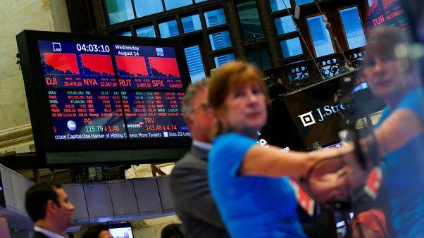 Stocks weak as investors eye Fed's Jackson Hole meeting
