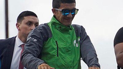 Crash puts Giro winner Carapaz in doubt for Vuelta