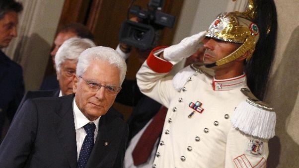 Mattarella, chiesto tempo per governo