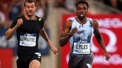 Athletics: Lyles romps to 200m victory in Paris