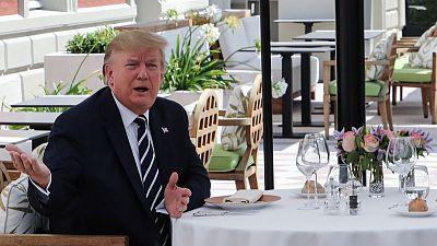 ترامب ينفي وجود توتر بين زعماء مجموعة السبع