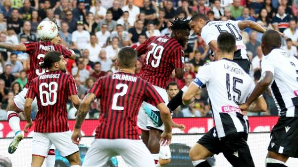 Serie A: Udinese-Milan 1-0