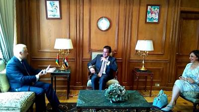 Ambassador of Belarus Sergei Rachkov meets the Minister of Higher Education and Scientific Research of Egypt