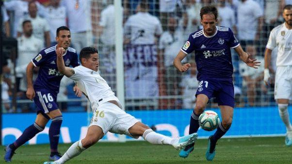 Real Madrid: James fuori tre settimane