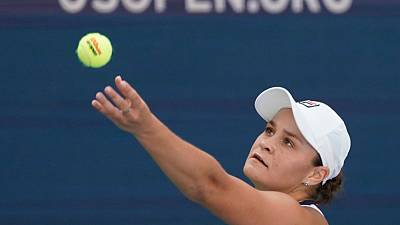 Barty survives first-round fright at U.S. Open