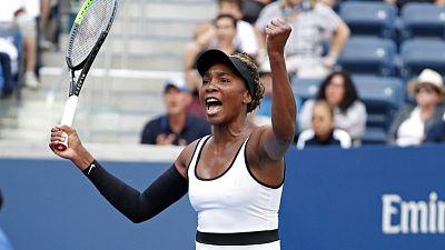 Venus sprints through first round of U.S. Open