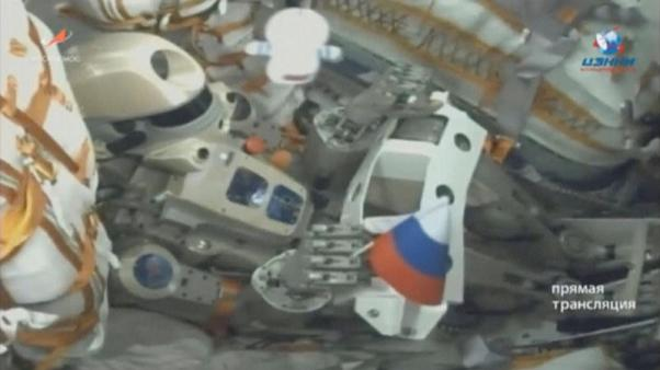 Russian spacecraft carrying robot docks with space station - TASS