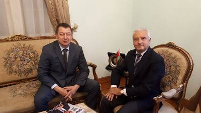 Ambassador of Belarus Sergei Rachkov met with Director General of «MAZ»