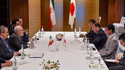 Meeting Iran counterpart, Japan minister says he hopes to ease Mid-East tension