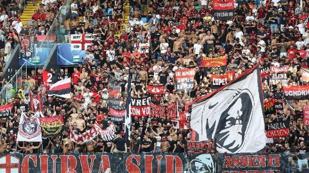 Tifosi spingono Milan,50mila con Brescia