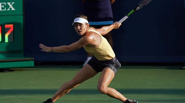 Halep ends string of first-round U.S. Open losses