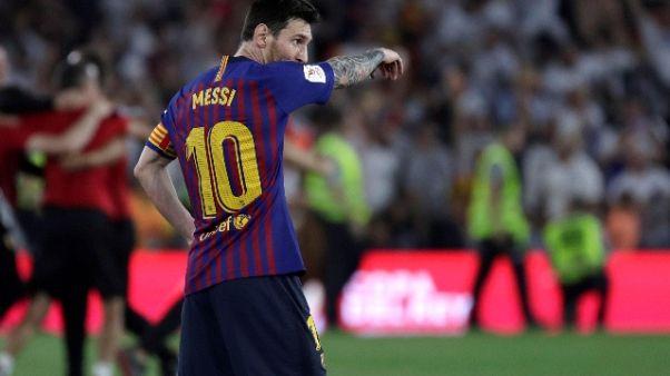 Nuovo stop per Messi,fermo un altro mese