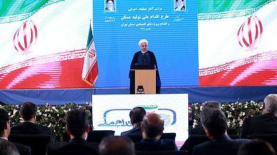 """روحاني يدعو إلى الوحدة لمواجهة """"الحرب الاقتصادية"""" الأمريكية"""
