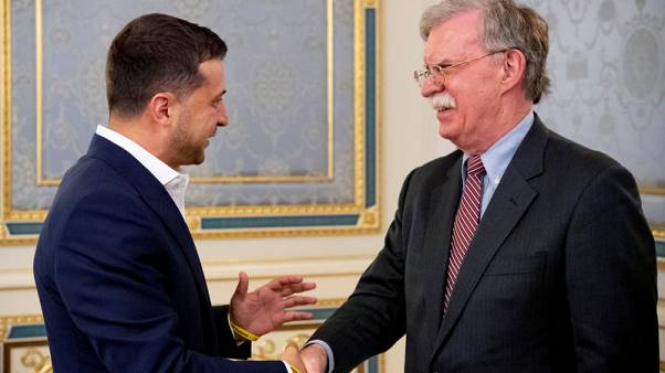 Trump adviser Bolton, in Ukraine, warns of Chinese influence