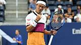 Nishikori fends off spirited Klahn to advance