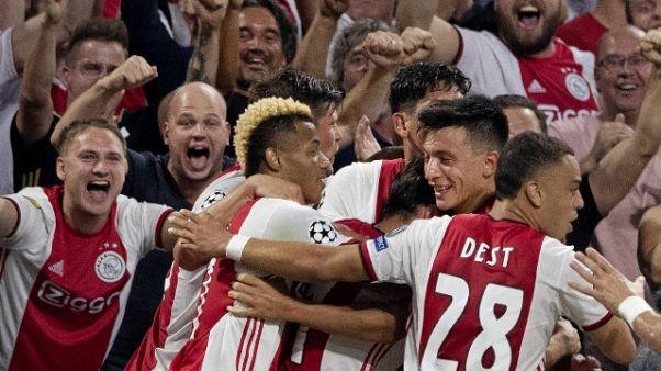 Champions: passano Ajax, Bruges e Slavia