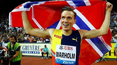 Warholm runs stunning race to win 400 metres hurdles