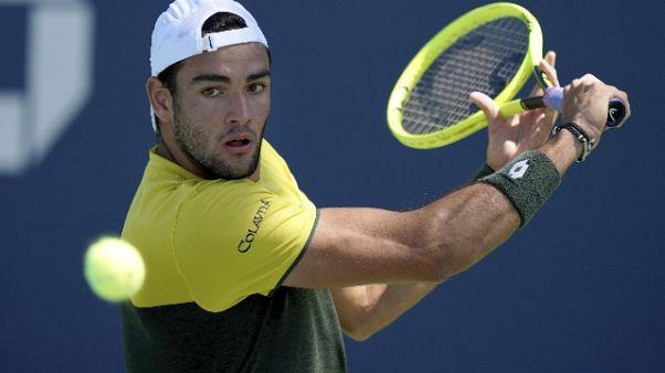 Tennis: Us Open, Berrettini a 3/o turno