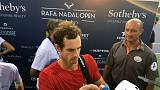 Tired Murray loses in third round of Rafa Nadal Open